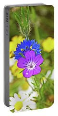 Flowers In The Meadow. Portable Battery Charger