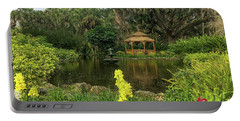 Flowers To Gazebo By The Lake Portable Battery Charger