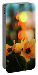 Flowery Bokeh Sunset Portable Battery Charger