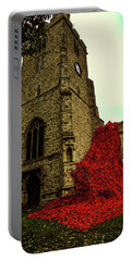 Flowing Poppies Portable Battery Charger