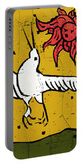 Flying Bird And Red Sun Face Portable Battery Charger