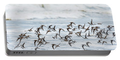 Flying Flock Of Shorebirds Portable Battery Charger