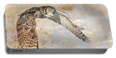 Flying Great Horned Owl Portable Battery Charger