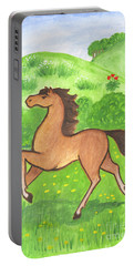 Foal In The Meadow Portable Battery Charger