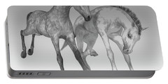 Foals Black And White Bleached Portable Battery Charger