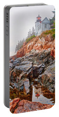 Foggy Bass Harbor Lighthouse Portable Battery Charger