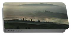 Foggy Fields Of Toskany Portable Battery Charger
