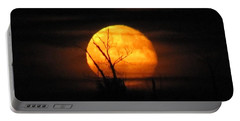 Foggy Harvest Moon Portable Battery Charger