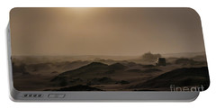 Foggy Morning In The Namib Desert Portable Battery Charger