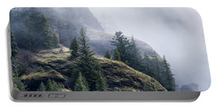 Foggy On Saddle Mountain Portable Battery Charger