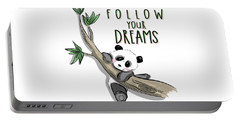 Follow Your Dreams - Baby Room Nursery Art Poster Print Portable Battery Charger