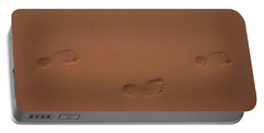 Foot Prints In Sand Portable Battery Charger