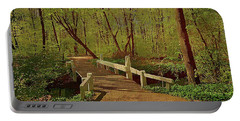 Footbridge Through The Woods Portable Battery Charger