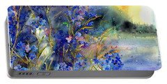 Forget-me-not Watercolor Portable Battery Charger