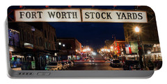 Fort Worth Stock Yards 112318 Portable Battery Charger