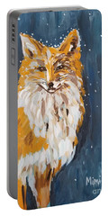 Fox Winter Night Portable Battery Charger