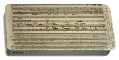 Franz Schubert, Manuscript Of The Songs, The Carpenter's Song Portable Battery Charger