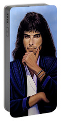 Freddie Mercury Painting 5 Portable Battery Charger