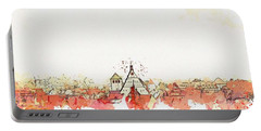 Freiberg Roofs -  Watercolor By Ahmet Asar Portable Battery Charger