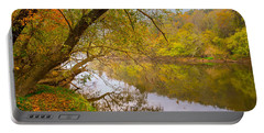 Portable Battery Charger featuring the photograph French Broad River by Tom Gresham