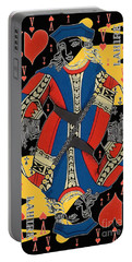 French Playing Card - Lahire, Valet De Coeur, Jack Of Hearts Pop Art - #2 Portable Battery Charger