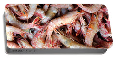 Fresh Prawns At The Fish Market Portable Battery Charger