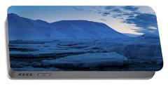frozen coastline near Longyearbyen Portable Battery Charger
