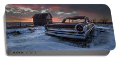 Portable Battery Charger featuring the photograph Frozen Galaxie 500  by Aaron J Groen