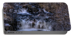 Frozen River In Forest - Long Exposure With Nd Filter Portable Battery Charger
