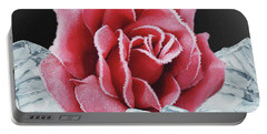 Frozen Rose Portable Battery Charger