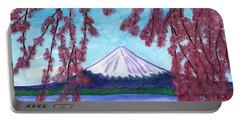 Fuji Mountain And Sakura Portable Battery Charger