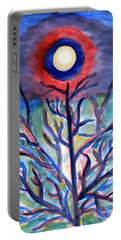 Portable Battery Charger featuring the painting Full Moon Abstraction by Dobrotsvet Art