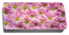 Full Of Pink Flowers Portable Battery Charger
