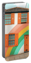 Funky Rainbow House Portable Battery Charger