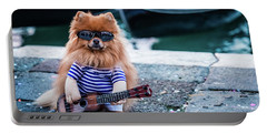 Funny Dog At The Carnival In Venice Portable Battery Charger