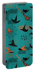 Funny Witch Hats Art Portable Battery Charger