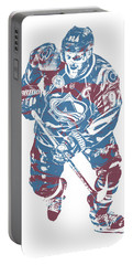 Gabriel Landeskog Colorado Avalanche Pixel Art 1 Portable Battery Charger