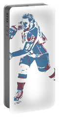 Gabriel Landeskog Colorado Avalanche Pixel Art 2 Portable Battery Charger