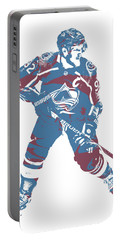 Gabriel Landeskog Colorado Avalanche Pixel Art 3 Portable Battery Charger