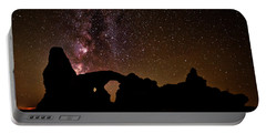 Portable Battery Charger featuring the photograph Galactic Turret Arch by Andy Crawford