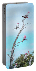 Portable Battery Charger featuring the photograph Galahs On The Lookout by Elaine Teague