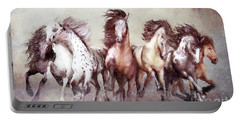 Galloping Horses Magnificent Seven Portable Battery Charger