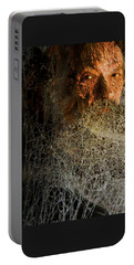 Portable Battery Charger featuring the digital art Gandalf - Cobwebby Self-portrait by Attila Meszlenyi