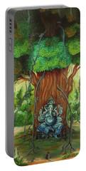 Ganesha Idol Around The Banyan Tree Portable Battery Charger