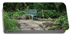 Portable Battery Charger featuring the photograph Garden Bench by Dale Kincaid