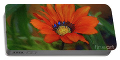Garden Flower Impressionist Portable Battery Charger