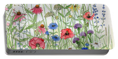 Garden Flower Medley Watercolor Portable Battery Charger