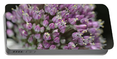 Garlic Flower In Bloom Portable Battery Charger