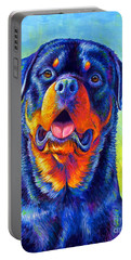 Gentle Guardian Colorful Rottweiler Dog Portable Battery Charger
