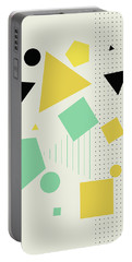 Geometric Painting 7  Portable Battery Charger